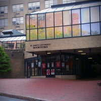 Photo taken at St. John's University Bookstore by St. John's University on 10/18/2013