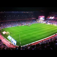 Photo taken at Estadio Vicente Calderón by David P. on 9/16/2012
