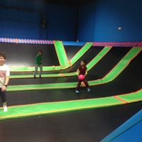 Photo taken at Bounce Trampoline Sports by Pierre L. on 4/17/2015
