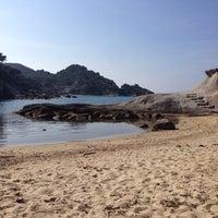 Photo taken at Spiaggia del Cotoncello by Valerio T. on 3/19/2014
