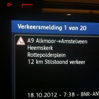 Photo taken at A9 (Hoofddorp-West) by Stephaan v. on 10/18/2012