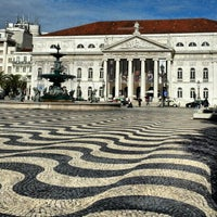 Photo taken at Rossio Square by Radim S. on 10/30/2012