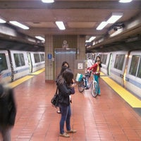 Photo taken at Powell St. BART Station by Gabriella S. on 7/10/2013