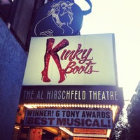 Photo taken at Kinky Boots at the Al Hirschfeld Theatre by Catherine C. on 6/14/2013