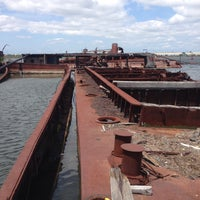 Photo taken at Staten Island Tugboat Graveyard by Pablo I. on 6/21/2015
