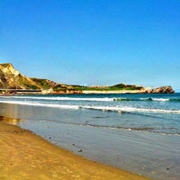 Photo taken at Playa de Salinas / San Juan de Nieva by jmiguel r. on 5/4/2013