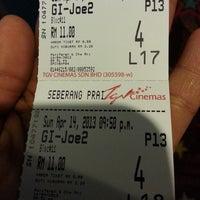 Photo taken at TGV Cinemas by zeffriza z. on 4/14/2013