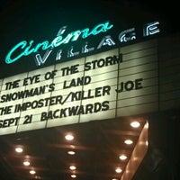 Photo taken at Cinema Village by Samantha R. on 9/15/2012