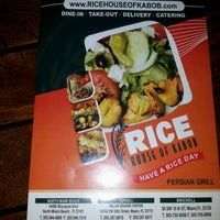 Photo taken at RICE House of Kabob by Jorge M. on 11/3/2012