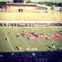 Photo taken at Bronco Football Stadium by Cindy M. on 8/30/2013