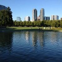 Photo taken at Bellevue Downtown Park by Rachelle K. on 7/19/2013