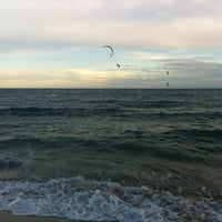 Photo taken at Bogatell Beach by Christian A. on 11/11/2012