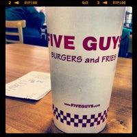 Photo taken at Five Guys by Jennifer L. on 10/17/2012