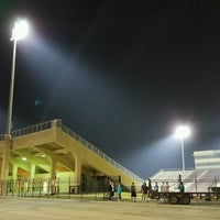 Photo taken at Clyde Abshier Stadium-DPISD by Christopher E. on 10/1/2016
