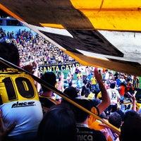 Photo taken at Estádio Heriberto Hülse by Lucas G. on 11/17/2012