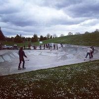 Photo taken at Gabriel Skate Park by Mimi K. on 4/26/2014