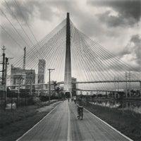 Photo taken at Ponte Octávio Frias de Oliveira (Ponte Estaiada) by Gustavo G. on 1/20/2013