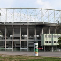 Photo taken at Ernst-Happel-Stadion by Simone P. on 12/25/2012