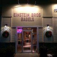 Photo taken at Einstein Bros Bagels by Charlie P. on 1/8/2014