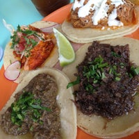 Photo taken at La Taqueria Pinche Taco Shop by Vivy L. on 4/27/2013