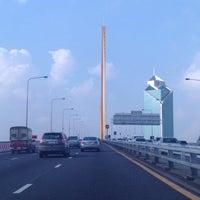 Photo taken at Rama IX Bridge by Pop V. on 10/22/2013