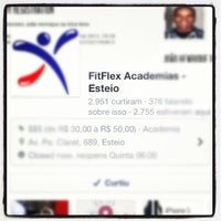 Photo taken at FitFlex Academias by Vinicius S. on 10/25/2012