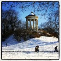 Photo taken at Englischer Garten by ♏️UTLU . on 2/21/2013