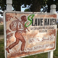 Photo taken at Slavehaven Underground Railroad Museum by ~Roni~ on 2/9/2013