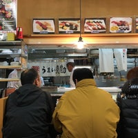 Photo taken at うまい鮨勘 築地市場店 by David S. on 2/8/2016