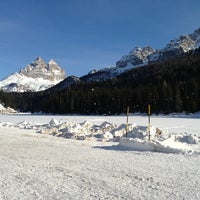 Photo taken at Lago di Misurina by Alessandro V. on 12/24/2012
