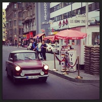 Photo taken at Checkpoint Charlie by Alexander M. T. on 6/29/2013