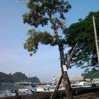Photo taken at Pantai Sendang Biru by Nurbaiti H. on 4/6/2013