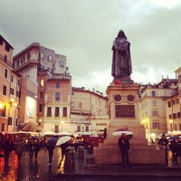 Photo taken at Campo de' Fiori by Jaroslava S. on 3/9/2013