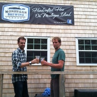 Photo taken at Monhegan Brewing Company by Claire B. on 7/22/2013