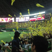 Photo taken at Fukuoka Yahuoku! Dome by Harada N. on 5/6/2013