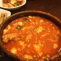 Photo taken at Hosoonyi Korean Restaurant by Moonjoo P. on 11/26/2012
