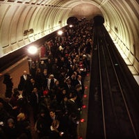 Photo taken at Woodley Park-Zoo/Adams Morgan Metro Station by Joshua J. on 1/16/2013