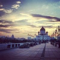 Photo taken at Patriarshiy Bridge by Anna D. on 7/7/2013