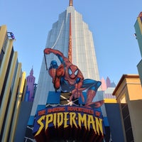 Photo taken at The Amazing Adventures of Spider-Man by Brent on 2/16/2013