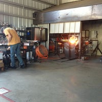 Photo taken at Morean Glass Studio & Hot Shop by Rebecca T. on 1/25/2014