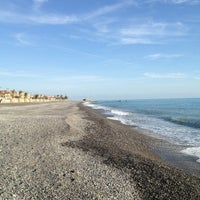 Photo taken at Passeggiata Bordighera-Vallecrosia by Giorgio A. on 1/30/2013