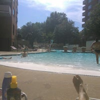 Photo taken at River Place Pool by Lukas Z. on 9/6/2015