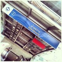 Photo taken at MRT Huai Khwang (HUI) by Joe V. on 3/2/2013
