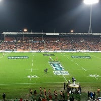 Photo taken at Waikato Stadium by Phil a. on 7/4/2014