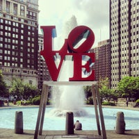 Photo taken at JFK Plaza / Love Park by Nicholas G. on 5/16/2013