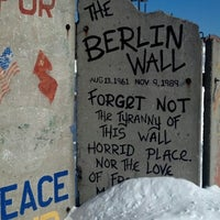 Photo taken at Berlin Wall by Carla J. on 2/10/2013
