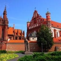 Photo taken at Šv. Onos Bažnyčia | St Anne's Church by Roman K. on 8/5/2014