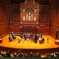 Photo taken at New England Conservatory's Jordan Hall by Franklin T. on 12/14/2012