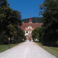 Photo taken at Eggenberg Schloss by Diana C. on 7/16/2013
