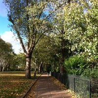Photo taken at Bishop's Park by Michael B. on 11/3/2012